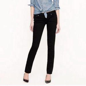 JCrew. Stretch matchstick black jeans. Size 25